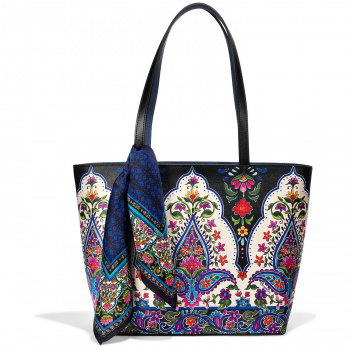 Journey to India Lotus Scarf Tote