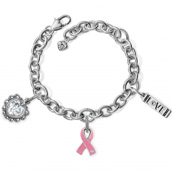 Power of Pink Ribbon Lux Link Bracelet