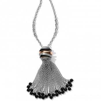 Neptune's Rings Black Tassel Necklace