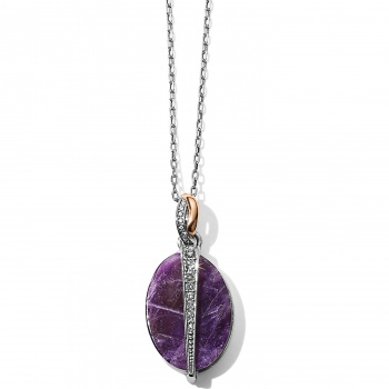 Neptune's Rings Neptune's Rings Oval Amethyst Reversible Short Necklace