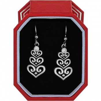 Alcazar Heart Trio French Wire Earrings Gift Box