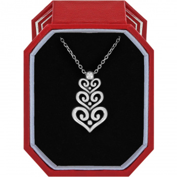 Alcazar Heart Trio Short Necklace Gift Box