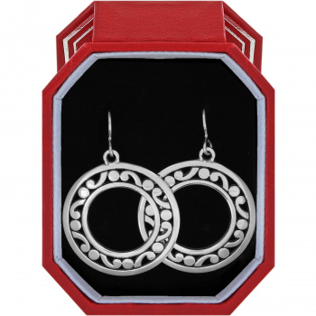 Contempo Open Ring French Wire Earrings Gift Box