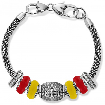 Football Red And Yellow Charm Bracelet