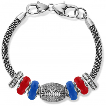 Football Red And Blue Charm Bracelet