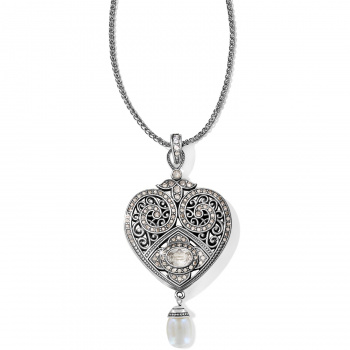 Mumtaz Pearl Heart Convertible Necklace