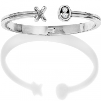 Fashionista Hugs & Kisses Open Hinged Bangle