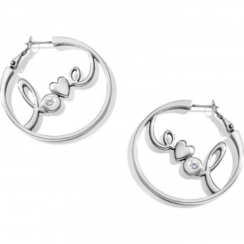 Fashionista Love You Leverback Hoops