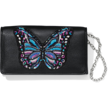 Wild Garden Beaded Clutch Wallet
