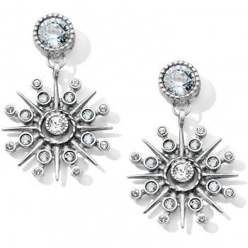 Halo Halo Ice Post Drop Earrings