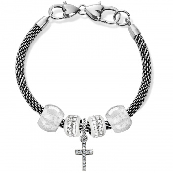 Starry Night Cross Charm Bracelet