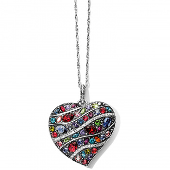 Trust Your Journey Wave Convertible Reversible Heart Necklace