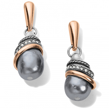 Neptune's Rings Gray Pearl Teardrop Earrings