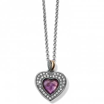 Neptune's Rings Neptune's Rings Amethyst Heart Reversible Necklace