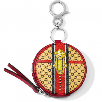 Fashionista Fashion Lux Small Round Coin Purse Key Fob