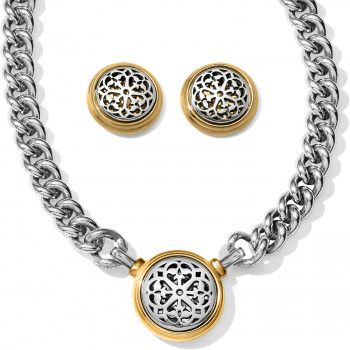 Ferrara Two Tone Necklace Gift Set