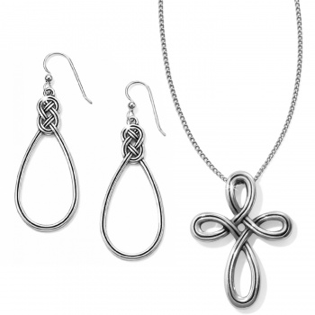 Interlok Petite Cross Necklace Gift Set