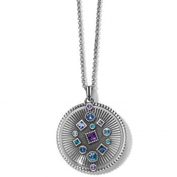 Halo Halo Rays Round Pendant Necklace