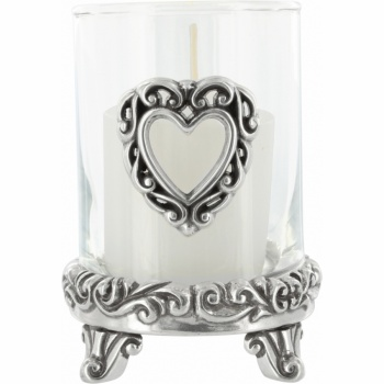 Scrolled Heart Votive