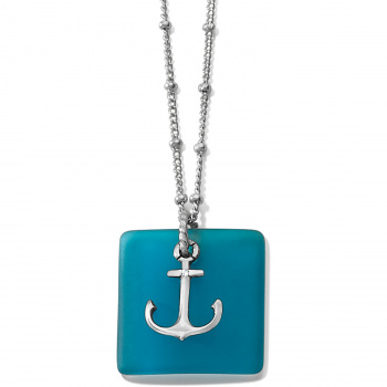 SEA SHORE Sea Shore Anchor Glass Necklace
