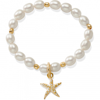 Sea Shore Pearl Starfish Stretch Bracelet