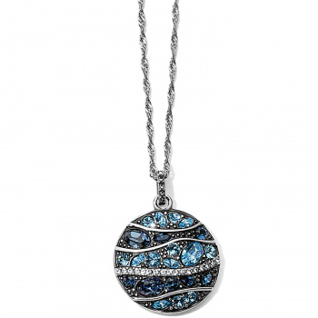 Trust Your Journey Blue Wave Pendant Necklace