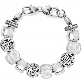 Silver and Sparkle Charm Bracelet