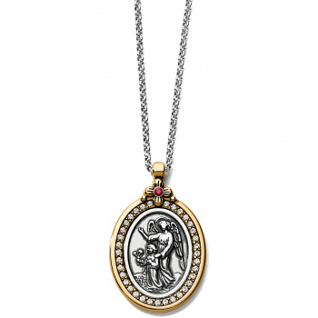 Art & Soul Guardian Angel Two-Tone Pendant Necklace