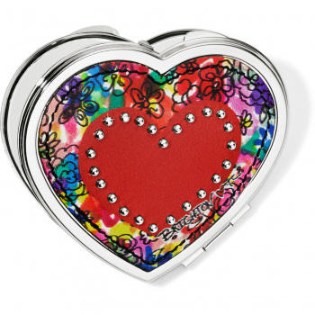 Love Bouquet Heart Compact Mirror