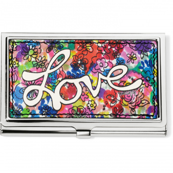 Love Bouquet Metal Card Case