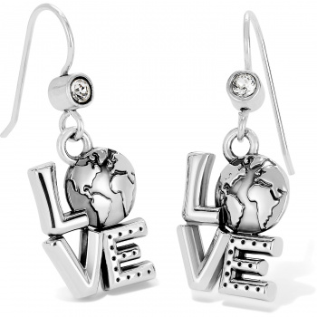 Halo Love Earth French Wire Earrings