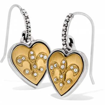 One Heart French Wire Earrings Gift Box