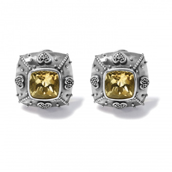 Bali Citrine Java Post Earrings
