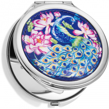 Journey To India Peacock Compact Mirror