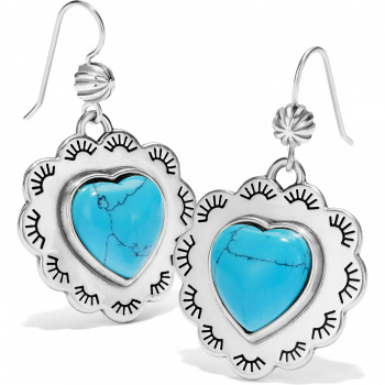 Southwest Dream Spirit Heart French Wire Earrings