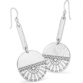 Marrakesh Mystique Disc French Wire Earrings