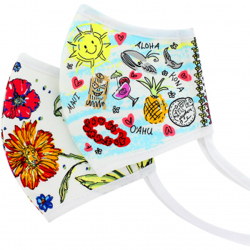 Aloha Floral Face Mask (2 pack)