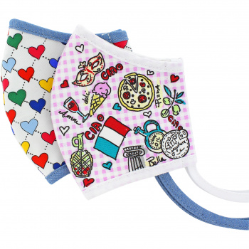 Ciao Bella Heart Face Mask (2 pack)