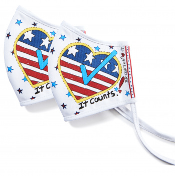 Your Vote Counts Face Mask (2 pack)