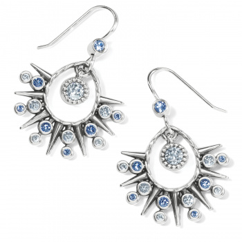 Halo Halo Ice French Wire Earrings