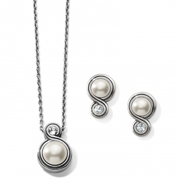 Infinity Sparkle Pearl Jewelry Gift Set