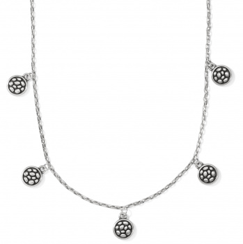 Pebble Pebble Round Droplet Necklace