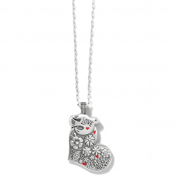 Fashionista Give Love Peace Necklace