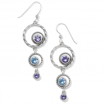Halo Radiance French Wire Earrings