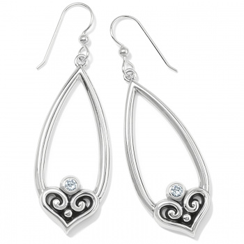 Alcazar Alcazar Heart Teardrop French Wire Earrings