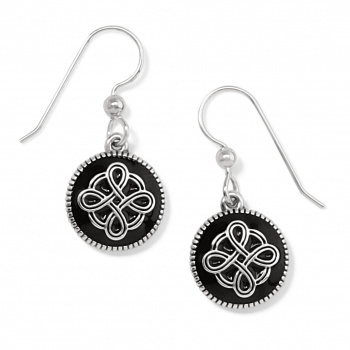 Interlok Noir French Wire Earrings