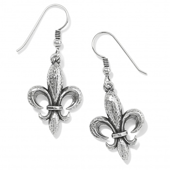 Ferrara Fleur De Lis French Wire Earrings