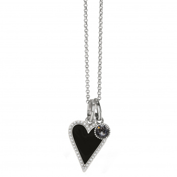 Midnight Heart Necklace