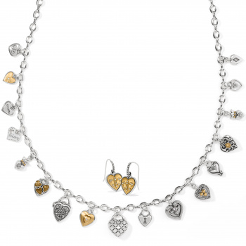 One Heart Charm Jewelry Gift Set