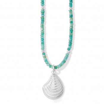 Paradise Cove Amazonite Shell Necklace